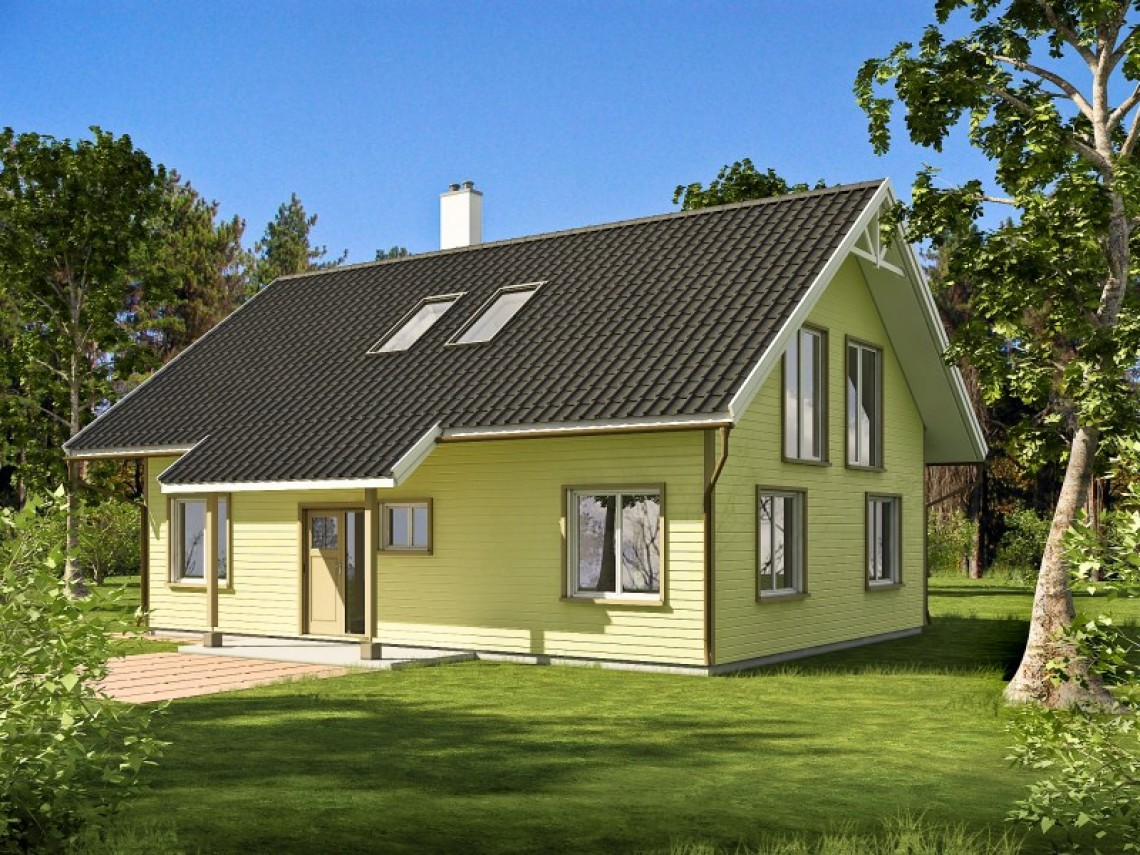 Timber frame home plan - Gauja 158