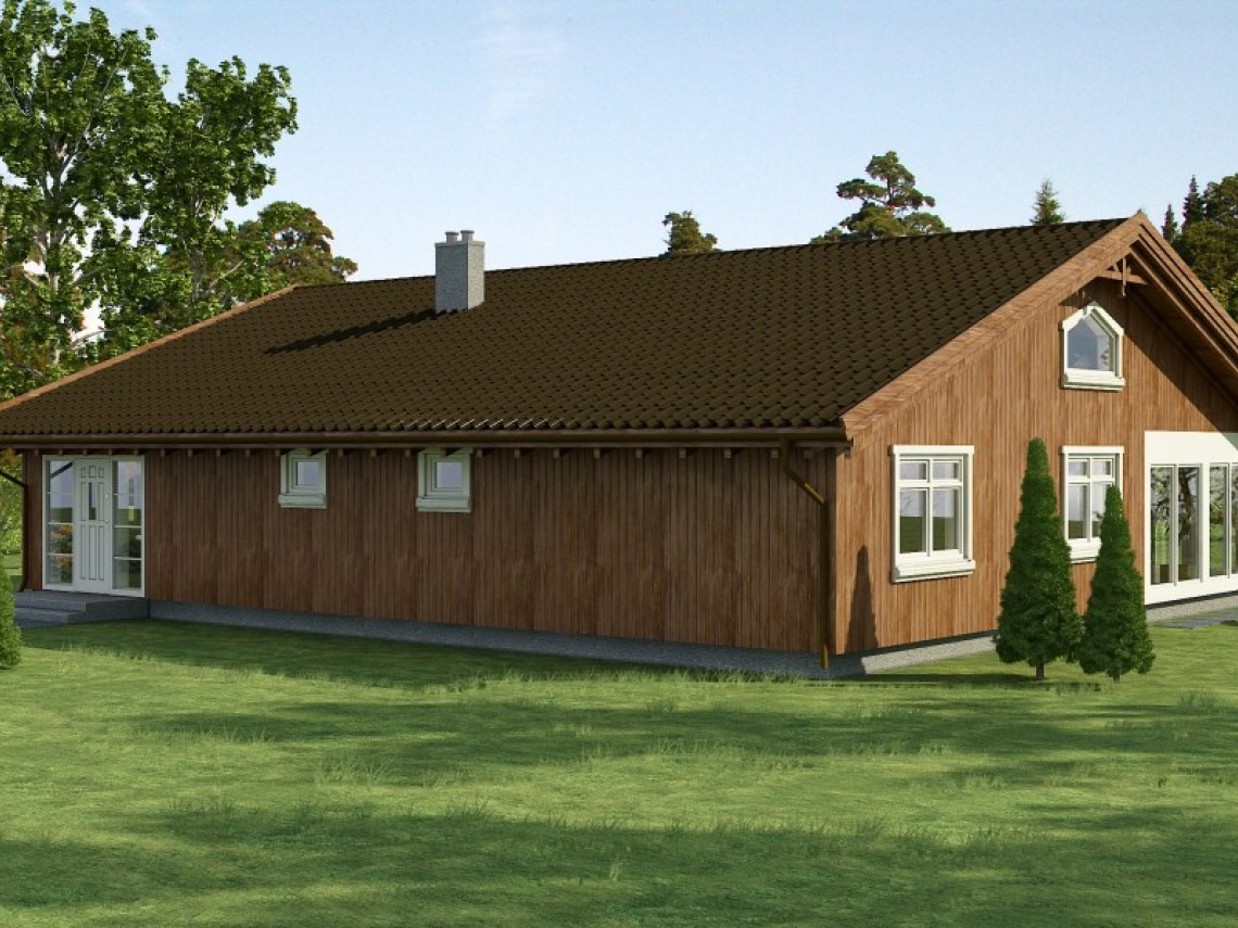Timber frame home plan - Jurmala 170