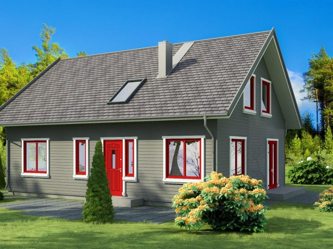 Timber frame home plan - Anita 11