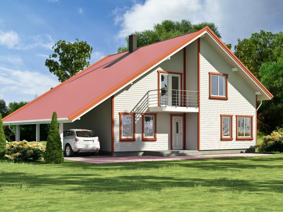 Timber frame home plan - Anita 218