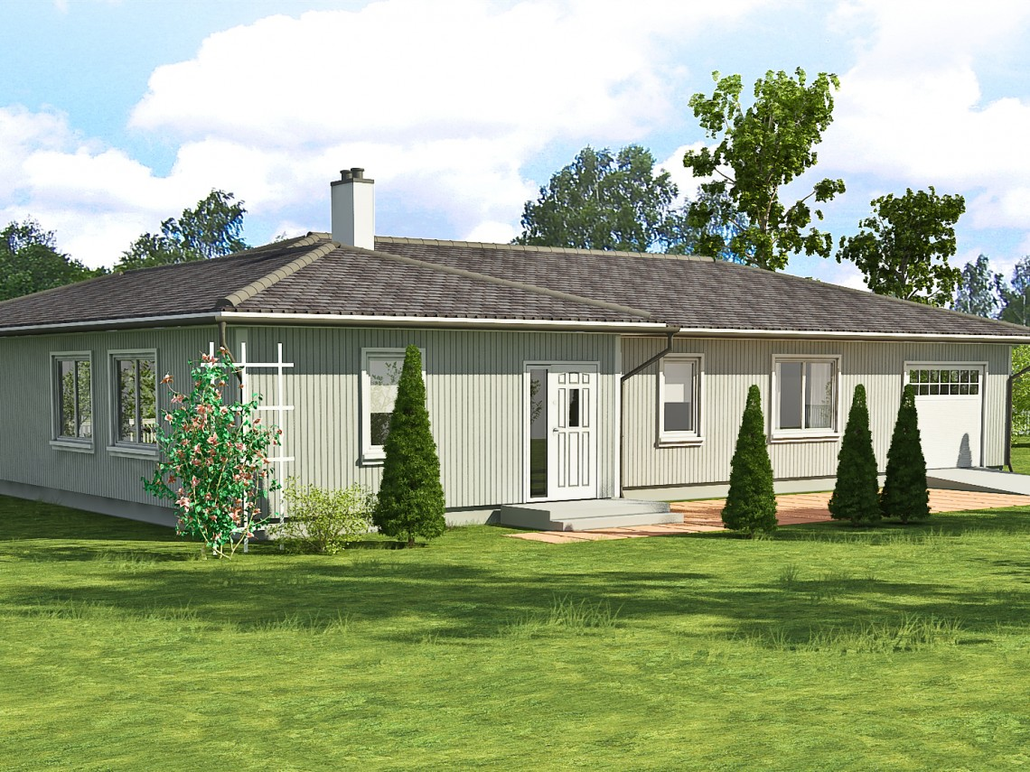 Timber frame home plan - Anita 179