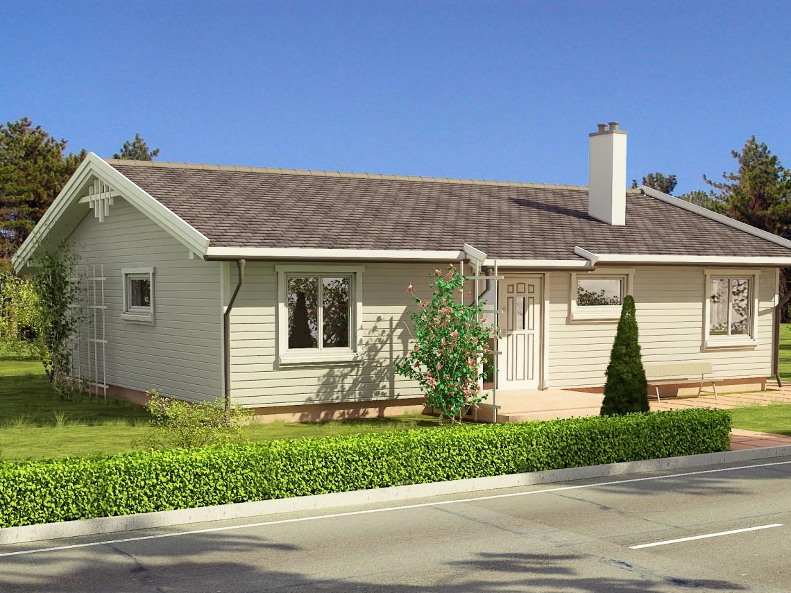 Timber frame home plan - Anita 116