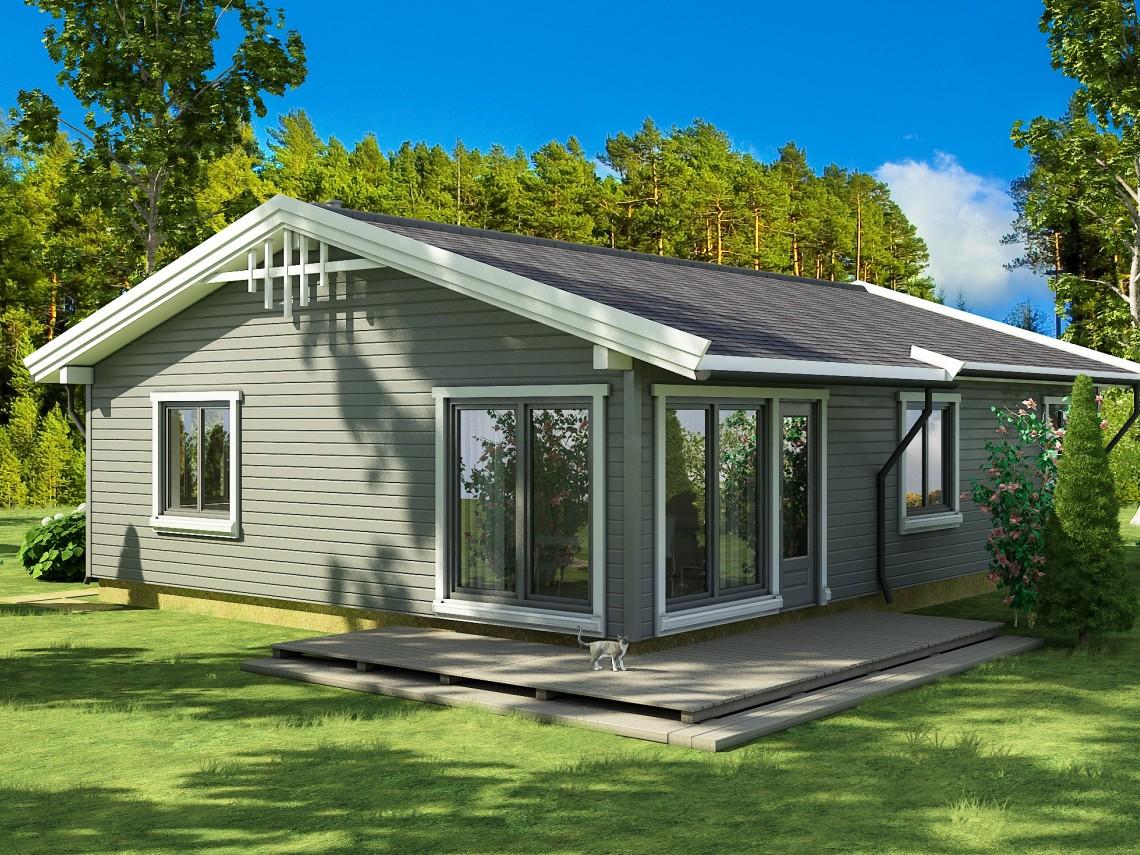 Timber frame home plan - Anita 102