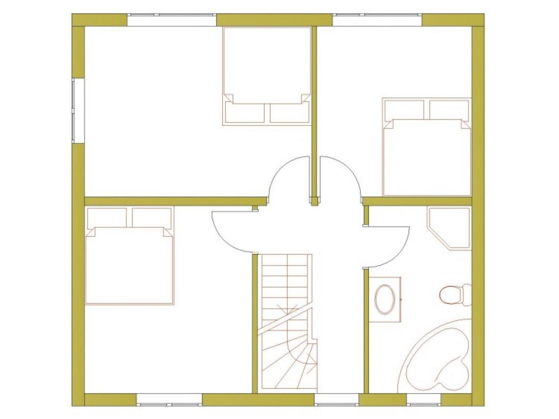 Plan d`une maison à ossature - Modern 137-2ST