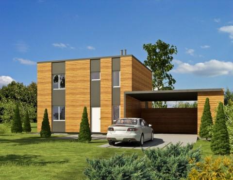 Koka karkasa māja - Modern 137-2ST
